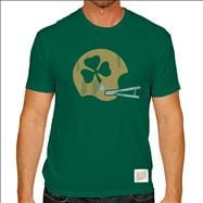 Notre Dame Fighting Irish Original Retro Brand Green Helmet Vintage T-Shirt