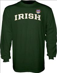 Notre Dame Fighting Irish 2013 BCS National Championship Game Irish Arch Long Sleeve T-Shirt - Forest