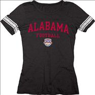 Alabama Crimson Tide Women's 2013 BCS National Championship Game Football Arch Jersey T-Shirt - Black