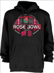 Stanford Cardinal vs Wisconsin Badgers 2013 Rose Bowl Match-Up Hooded Sweatshirt