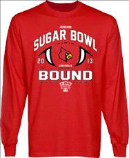 Louisville Cardinals 2013 Sugar Bowl Bound Long Sleeve T-Shirt