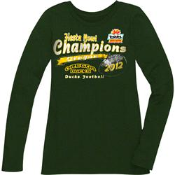 Oregon Ducks Women's 2013 Fiesta Bowl Champions Long Sleeve T-Shirt - Green