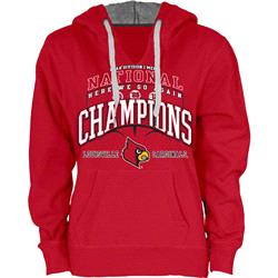 Louisville Cardinals Women's 2013 College Basketball National Champions V-Notch Hooded Sweatshirt