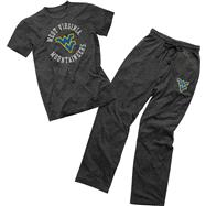 West Virginia Mountaineers 101 Tri-Blend T-Shirt & Pant Tied Set