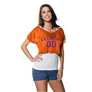 Clemson Tigers Women's Orange Cropped Top Mesh Jersey