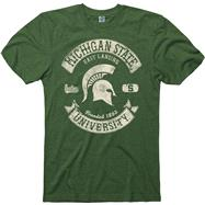 Michigan State Spartans Heathered Green Rockers Ring Spun T-Shirt
