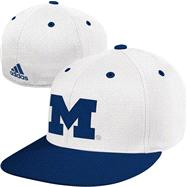 Michigan Wolverines adidas On Field Baseball Fitted Hat