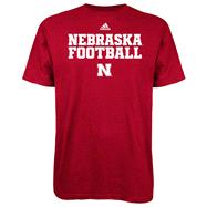Nebraska Cornhuskers Red adidas 2012 Football Practice T-Shirt