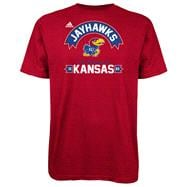 Kansas Jayhawks Red adidas Athletic Front T-Shirt