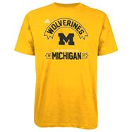 Michigan Wolverines Gold adidas Athletic Front T-Shirt