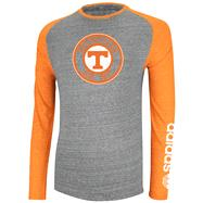 Tennessee Volunteers Heather Grey adidas Originals Athl. Dept. Original Tri-Blend Raglan Long Sleeve T-Shirt