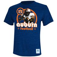 Auburn Tigers Heather Navy adidas Originals Iron Heat Gridiron Tri-Blend T-Shirt