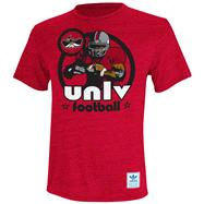 UNLV Runnin Rebels Heather Red adidas Originals Iron Heat Gridiron Tri-Blend T-Shirt