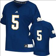 Notre Dame Fighting Irish Women's Football Jersey: adidas #5 Navy Replica Football Jersey