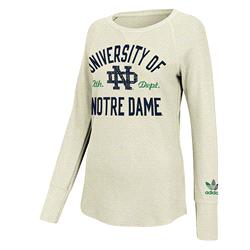 Notre Dame Fighting Irish Women's White adidas Originals Sealed Up Thermal Raglan Long Sleeve T-Shirt