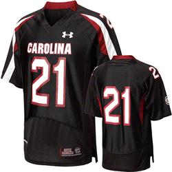 South Carolina Gamecocks 2012 Replica Football Jersey: Black Under Armour # Replica Football Jersey
