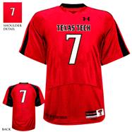 Texas Tech Red Raiders 2012 Replica Football Jersey: Red Under Armour # Replica Football Jersey