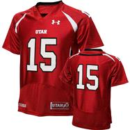 Utah Utes 2012 Replica Football Jersey: Red Under Armour # Replica Football Jersey
