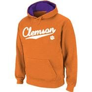 Clemson Tigers Orange Twill Script Hooded Sweatshirt