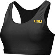 LSU Tigers Black Women's Studio Sports Bra