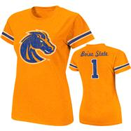 Boise State Broncos Royal Women's Galaxy Jersey T-Shirt