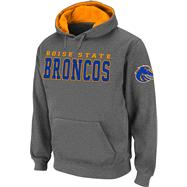 Boise State Broncos Charcoal Twill Victory Lap Hooded Sweatshirt