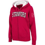 Stanford Cardinal Women's Cardinal Twill Tailgate Full-Zip Hooded Sweatshirt