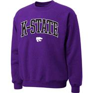 Kansas State Wildcats Purple Twill Arch Crewneck Sweatshirt
