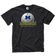 Michigan Wolverines Black Spirit Basketball T-Shirt