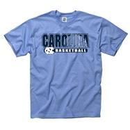 North Carolina Tar Heels Light Blue Show Thru Basketball T-Shirt