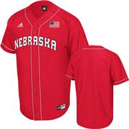 Nebraska Cornhuskers Red adidas Premier Baseball Jersey