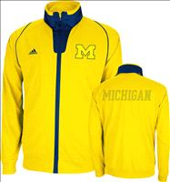 Michigan Wolverines Gold adidas 2012-2013 On-Courth Basketball Warm-Up Jacket