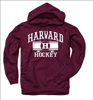 Harvard Crimson Crimson Wide Stripe Hockey Hooded Sweatshirt
