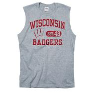 Wisconsin Badgers Grey Boardwalk Sleeveless T-Shirt