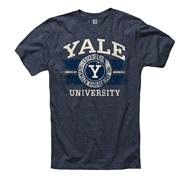 Yale Bulldogs Navy Button Up Ring Spun T-Shirt