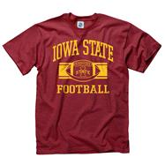 Iowa State Cyclones Red Wide Stripe Football T-Shirt