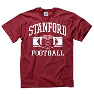 Stanford Cardinal Cardinal Wide Stripe Football T-Shirt