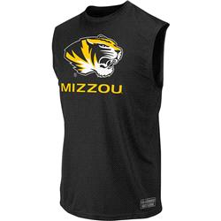 Missouri Tigers Black Rush Performance Sleeveless T-Shirt