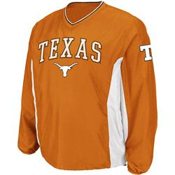 Texas Longhorns Burnt Orange Sliders Coaches Long Sleeve Pullover