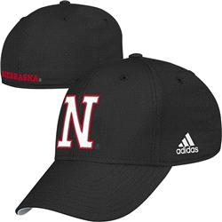 Nebraska Cornhuskers adidas On Field Structured Stretch Fit Hat
