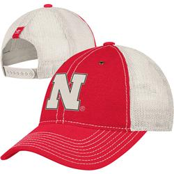 Nebraska Cornhuskers adidas Meshback Slouch Adjustable Hat