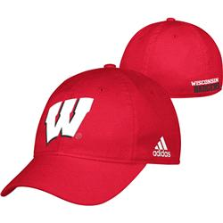 Wisconsin Badgers Red adidas 2013 Camp Slope Flex Hat