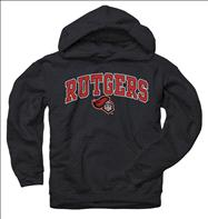 Rutgers Scarlet Knights Youth Black Perennial II Hooded Sweatshirt