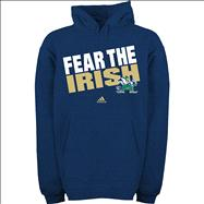 Notre Dame Fighting Irish Youth Navy adidas Fear The Irish Hooded Sweatshirt
