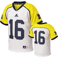 Michigan Wolverines Youth adidas #16 Replica Hockey Jersey