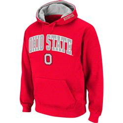 Ohio State Buckeyes Arch Over Logo Pullover Hood -Red