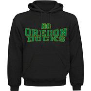 Oregon Ducks Black Slammer Hooded Sweatshirt