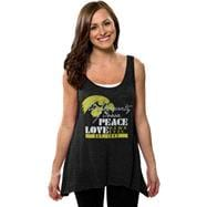 Iowa Hawkeyes Women's Black Beach Love Hi-Low Burnout Tank Top