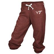 Virginia Tech Hokies adidas Burgundy Women's Big Better Logo Cropped Capri Pants