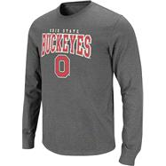 Ohio State Buckeyes Charcoal Roadhouse Long Sleeve Slub Knit T-Shirt
